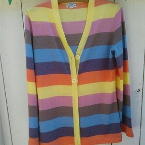 Sweaters - Vintage Cardigan Colorful